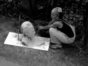 working on the portrait of Gustav Mahler